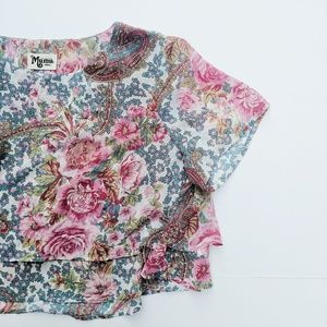 Show Me Your MuMu Candice Cropped Floral Top